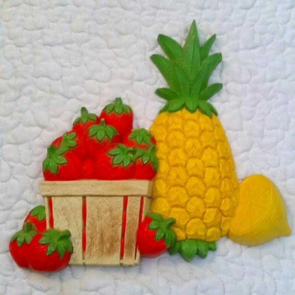 Rfried Vintage HOMCO 1965 Fruit Plastic Kitch Wal…